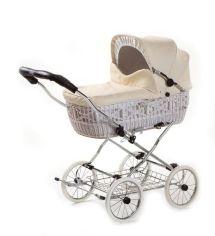 Классическая коляска EICHHORN SENATOR White натуральная кожа (4251056314641) от MOYO