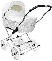 Классическая коляска EICHHORN SENATOR White эко-кожа (4251056316508) от MOYO
