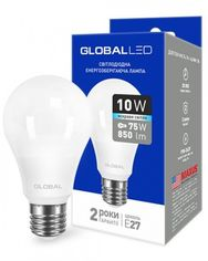 Светодиодная лампа GLOBAL A60 10W яркий свет 220V E27 AL (1-GBL-164) от MOYO