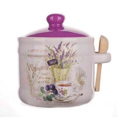 Емкость для сыпучих Banquet Lavender 60ZF1099 400 мл с ложкой от Podushka