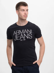 Акция на Футболка Armani Jeans 9012.3 S (44) Темно-синяя от Rozetka