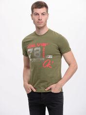 Акция на Футболка Calvin Klein Jeans 7622.5 M (46) Зеленая от Rozetka