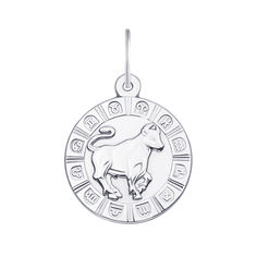 Серебряная подвеска Телец 000133239 000133239 от Zlato