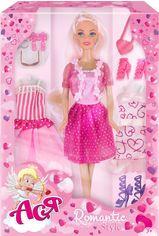Кукла Ася блондинка с 3 нарядами и аксессуарами, Романтический стиль от Stylus