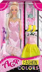 Кукла Ася с 2 платьями в нежных тонах, Модные цвета от Stylus