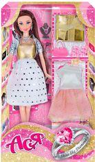 Акция на Кукла Ася брюнетка с 2 нарядами и аксессуарами, Сияй как бриллиант от Stylus