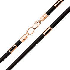 Шнурок из каучука с золотыми вставками и застежкой 000125983 000125983 40 размера от Zlato
