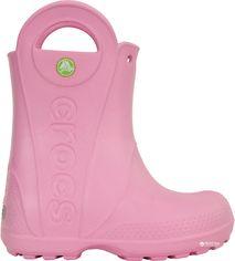 Резиновые сапоги Crocs Kids Jibbitz Handle It Rain Boot 12803-6I2-C9 25-26 15.7 см Розовые (887350271843) от Rozetka