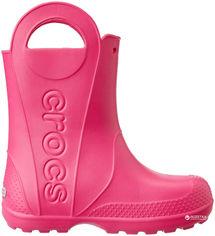 Резиновые сапоги Crocs Kids Jibbitz Handle It Rain Boot 12803-6X0-C7 23-24 14 см Розовые (887350802474) от Rozetka