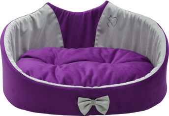 Лежак Лори Cat №2 37х49х23 см Фиолетовый (4823094311137) от Rozetka