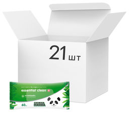 Упаковка влажных салфеток Снежная панда Essential Clean Ромашка для рук и тела 21 пачка по 60 шт (4820183970534) от Rozetka
