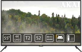 Акция на Телевизор AKAI UA55LEP1UHD9+Bluetooth Voice Remote Control от Eldorado