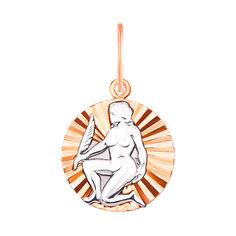 Золотая подвеска Дева в комбинированном цвете 000134151 000134151 от Zlato
