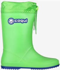 Акция на Резиновые сапоги Coqui 8509 32 21 см Lime/Royal (8595662664575) от Rozetka