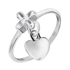Серебряное кольцо Дар сердца 000045376 000045376 16.5 размера от Zlato