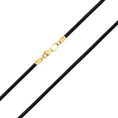 Каучуковый шнурок Атлантида с замочком из желтого золота 000129951 55 размера от Zlato