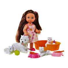 Кукла Steffi & Evi love Эви с щенками (5734191-2) от Будинок іграшок