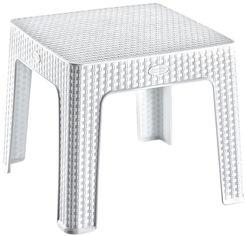 Столик для кофе Irak Plastik под ротанг 45x45 см Белый (5891kmd) от Rozetka