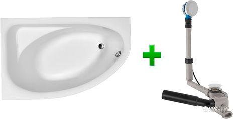 Ванна акриловая KOLO SPRING 170х100 (XWA307100G) левосторонняя + ножки SN7 + сифон GEBERIT 150.520.21.1 от Rozetka