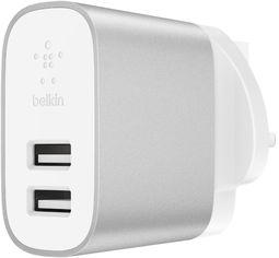 Сетевое зарядное устройство Belkin Dual USB 24 Вт 4.8 A Silver (F7U049VFSLV) от Rozetka