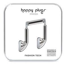 Happy Plugs Earbud Наушники Серебристые от SportsTerritory