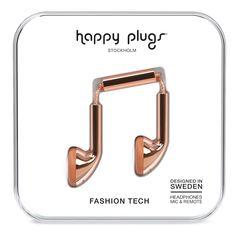 Happy Plugs Earbud Наушники Розовые Золотистые от SportsTerritory
