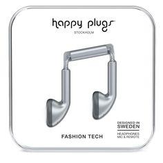 Happy Plugs Earbud Наушники Space Серые от SportsTerritory