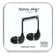 Happy Plugs In Ear Наушники Черные Marble от SportsTerritory