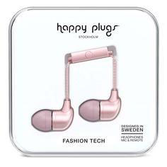 Happy Plugs In Ear Наушники Розовые Золотистые от SportsTerritory