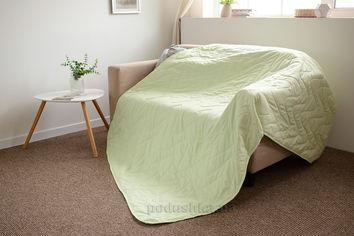 Покрывало-одеяло с льняным наполнителем летнее SoundSleep Light green 145х205 cм от Podushka