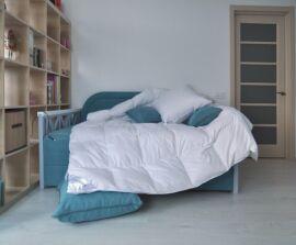 Акция на Одеяло пуховое 100% серый пух SoundSleep Air Soft кассетное демисезонное 145х210 см вес 600 г от Podushka