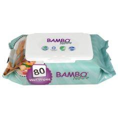 Влажные очищающие салфетки Bambo Nature, без отдушек, 80 шт. от Pampik
