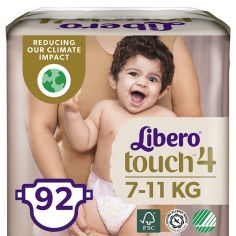 Набор подгузников Libero Touch 4 (7-11 кг), 92 шт. (2 уп. по 46 шт.) от Pampik