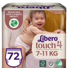Набор подгузников-трусиков Libero Touch Pants 4 (7-11 кг), 72 шт. (2 уп. по 36 шт.) от Pampik