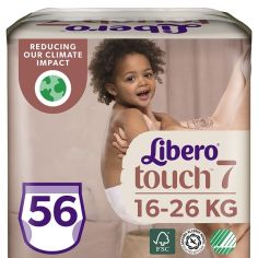 Набор подгузников-трусиков Libero Touch Pants 7 (16-26 кг), 56 шт. (2 уп. по 28 шт.) от Pampik