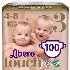 Набор подгузников Libero Touch 3 (4-8 кг), 100 шт. (2 уп. по 50 шт.) от Pampik