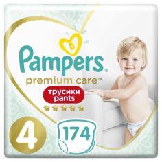 Набор подгузников-трусиков Pampers Premium Care Pants 4 (9-15 кг), 174 шт. (3 уп. по 58 шт.) от Pampik