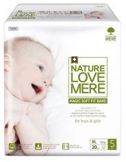 Подгузники детские NatureLoveMere Magic Soft Fit XL (11-14 кг), 20 шт. от Pampik