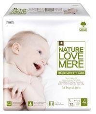 Подгузники детские NatureLoveMere Magic Soft Fit L (7-11 кг), 22 шт. от Pampik