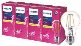 Светодиодная лампа Philips Filament LED Classic 6-60 Вт A60 E27 830 CL NDAPR (929001974508R) 4 шт. от Rozetka