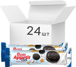 Упаковка сахарного печенья-сэндвича Bon Appetit Dark 80 г х 24 шт (4823017505780) от Rozetka
