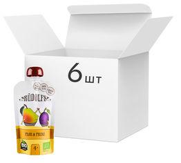 Упаковка фруктового органического пюре Rudolfs Смузи груша-чернослив 110 г х 6 шт (14751017940911) от Rozetka