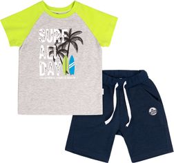 Костюм (футболка + шорты) Бемби КС616 134 см Салатовый с синим (06616012244.T80) от Rozetka