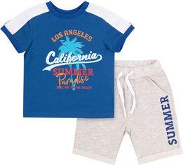 Костюм (футболка + шорты) Бемби КС615 128 см Синий с серым (06615012243.8X0) от Rozetka