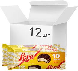 Упаковка печенья затяжного глазированного Lora Multipack с начинкой маршмеллоу 220 г х 12 шт (4823017507197) от Rozetka