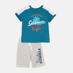 Костюм (футболка + шорты) Бемби КС615 134 см Бирюзовый с серым (06615012244.RX0) от Rozetka