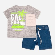 Костюм (футболка + шорты) Бемби КС619 104 см Серый с голубым (06619012439.X40) от Rozetka