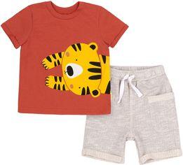 Костюм (футболка + шорты) Бемби КС611 86 см Оранжевый с серым (06611012236.DX0) от Rozetka