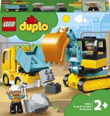Конструктор LEGO DUPLO Town Грузовик и гусеничный экскаватор 20 деталей (10931) от Rozetka