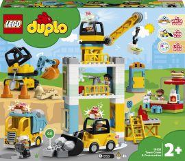 Конструктор LEGO DUPLO Town Подъемный кран и строительство 123 детали (10933) от Rozetka